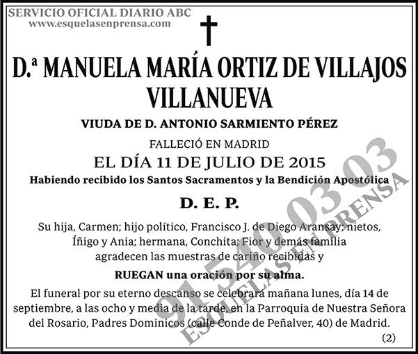 Manuela María Ortíz de Villajos Villanueva